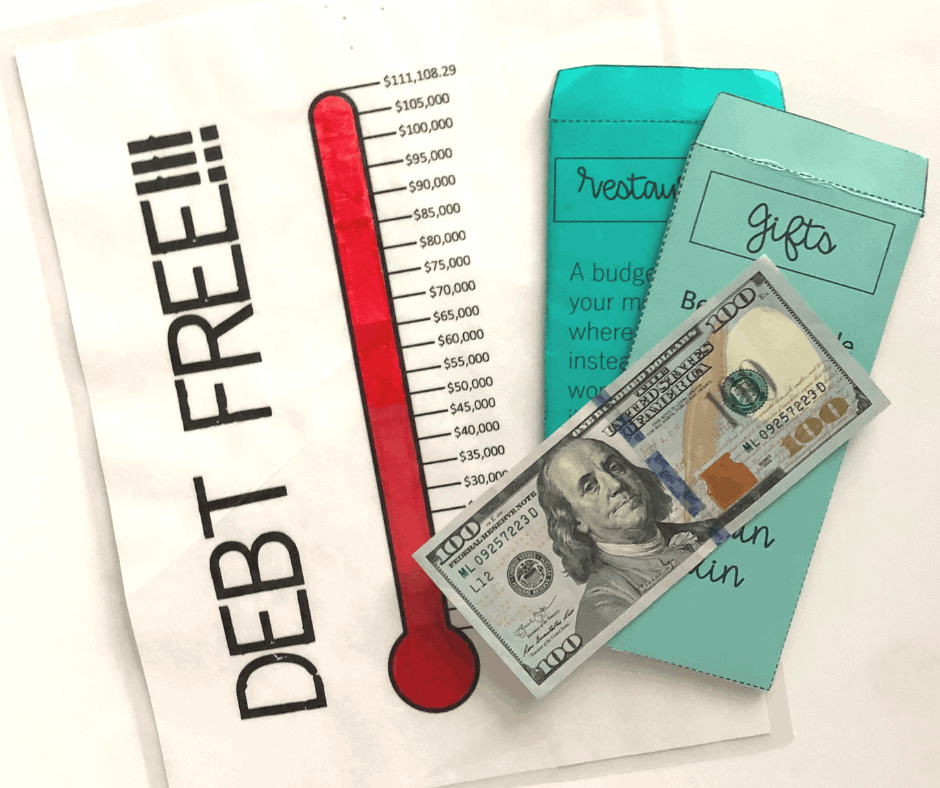 Debt Free Thermometer InspiredBudget.com