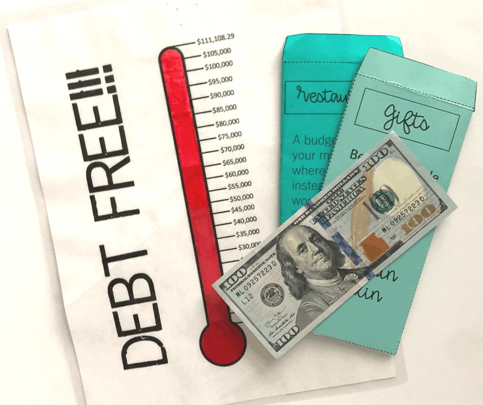Debt Free Thermometer InspiredBudget.com