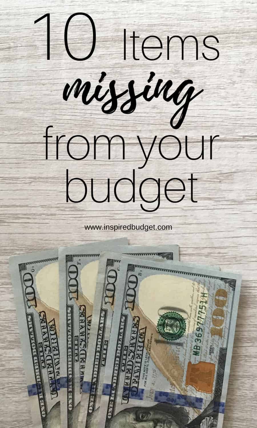 10 items missing from your budget image 2