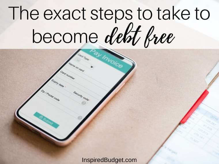 The exact steps to take to become debt free by inspiredbudget.com