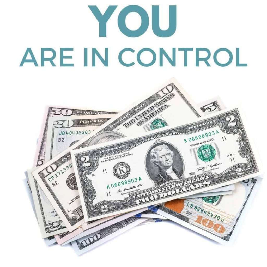 You are in control of your money by InspiredBudget.com