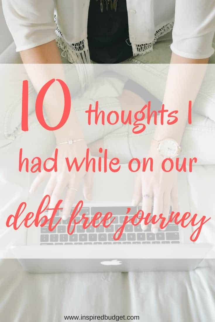 10 thoughts I had while on our debt free journey image 1