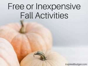 Free or Inexpensive Fall Activities by InspiredBudget.com