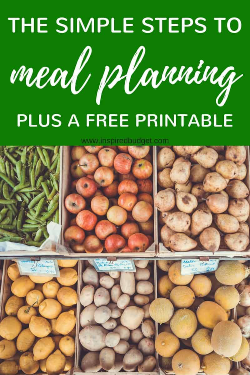Meal Planning and Printable