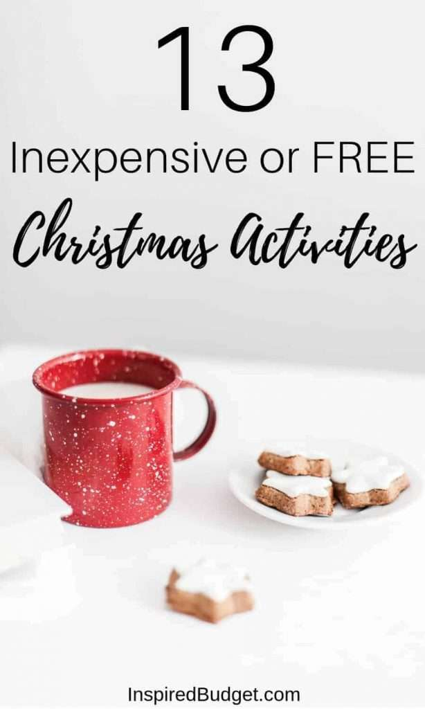 Inexpensive or FREE Christmas Activities by InspiredBudget.com