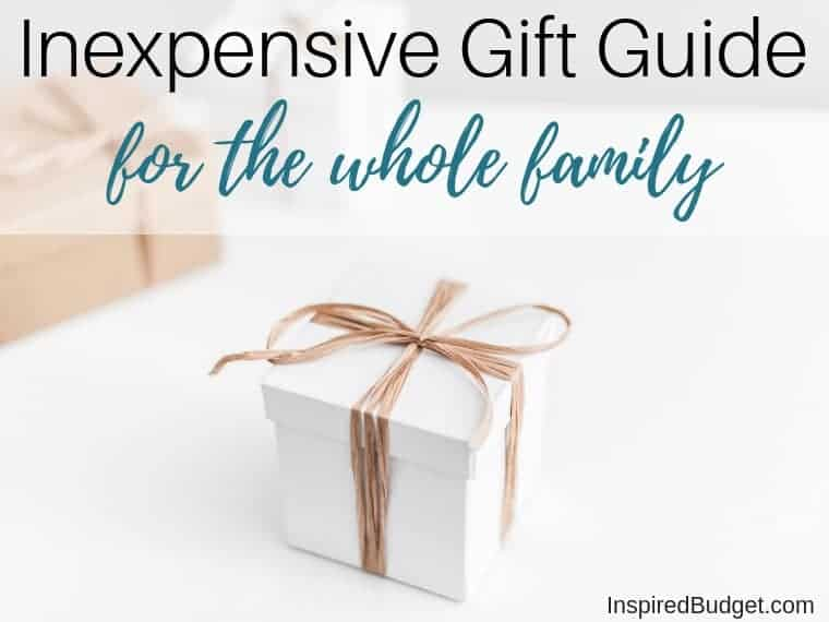 inexpensive gift guide featured image