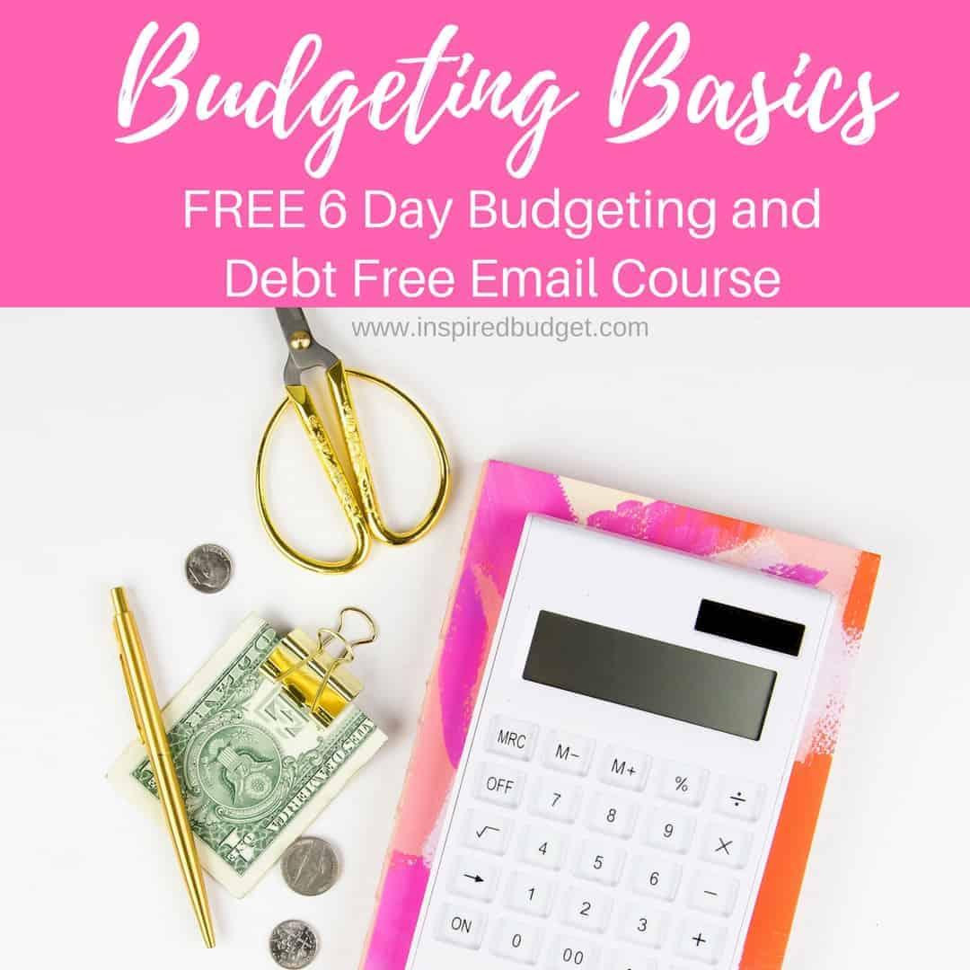 Budgeting Basics Email Course