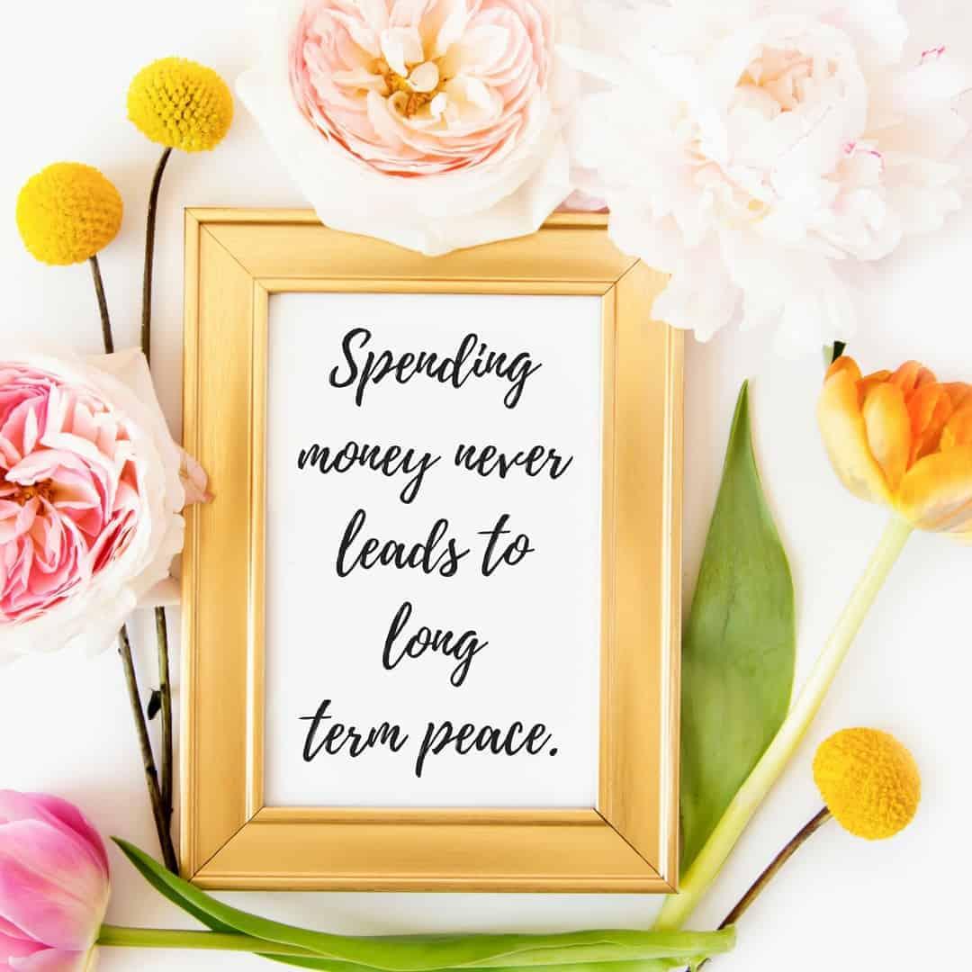 spending money quote