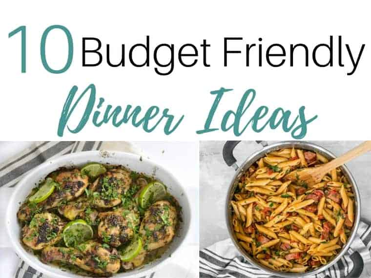 inexpensive dinner ideas by www.inspiredbudget.com
