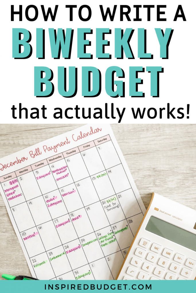 How To Budget On A Biweekly Income