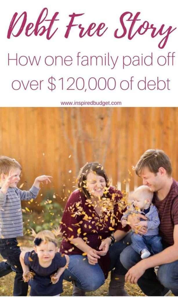 debt free story by www.inspiredbudget.com