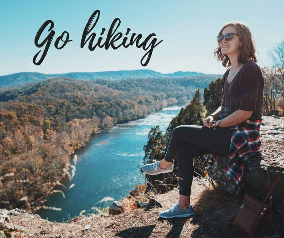 go hiking summer activities by inspiredbudget.com