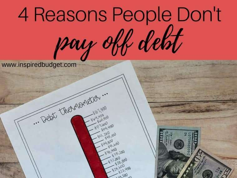 4 reasons people don't pay off debt feature image