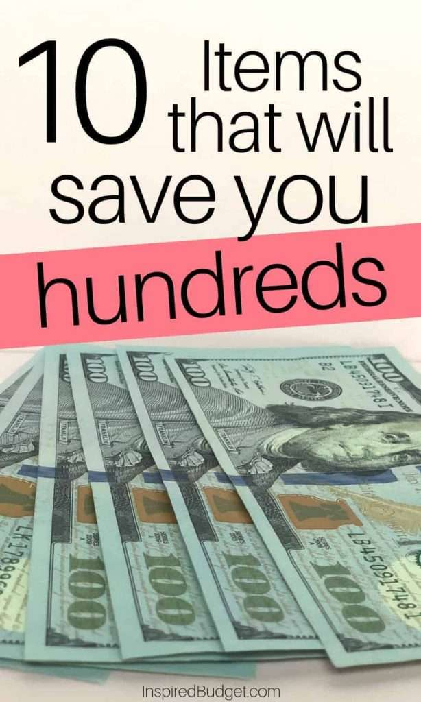 Items That Will Save You Hundreds by InspiredBudget.com