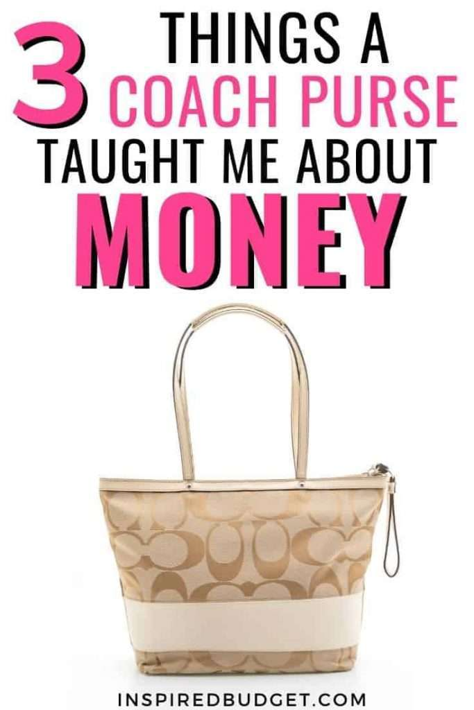 What My Designer Bag Taught Me About Money by InspiredBudget.com