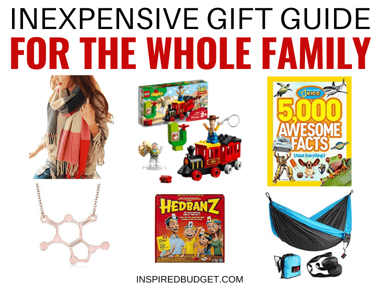 Inexpensive Gift Guide For The Whole Family by InspiredBudget.com
