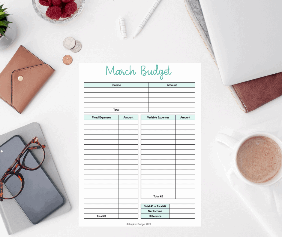 March Budget Example