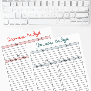 Yearly Monthly Budget Sheet by InspiredBudget.com