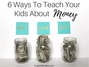How To Teach Kids About Money by InspiredBudget.com