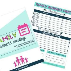 Family Business Meeting Printable