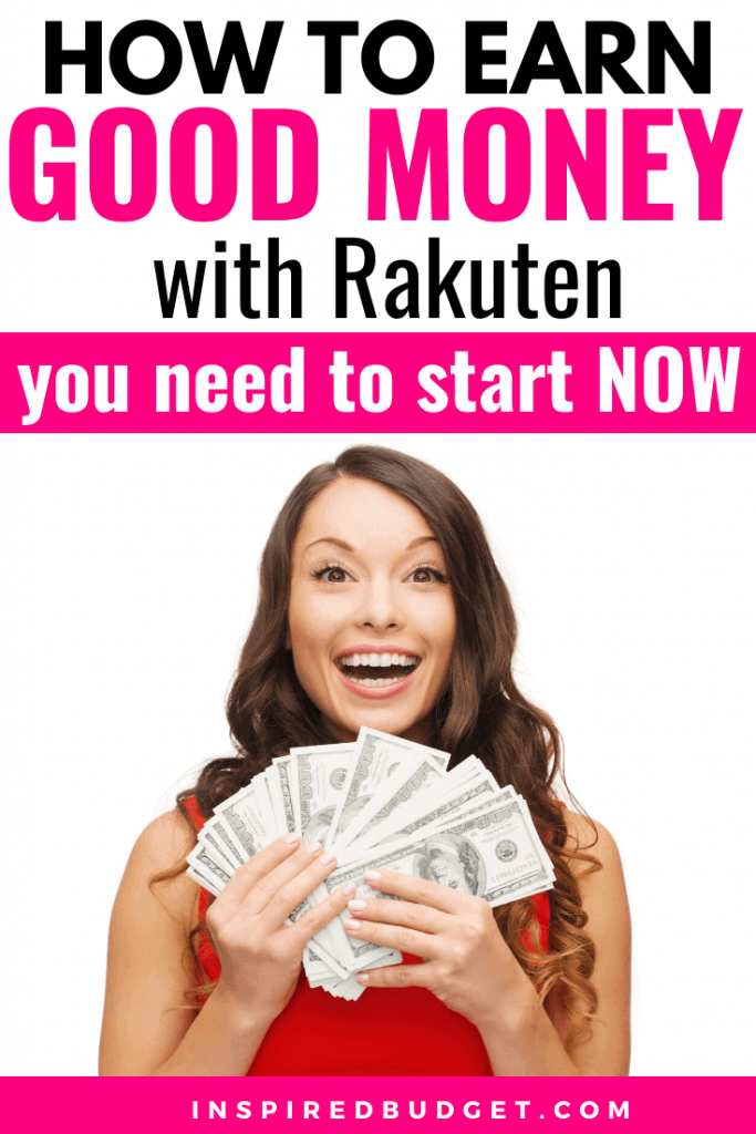 Earn Money With Rakuten by InspiredBudget.com
