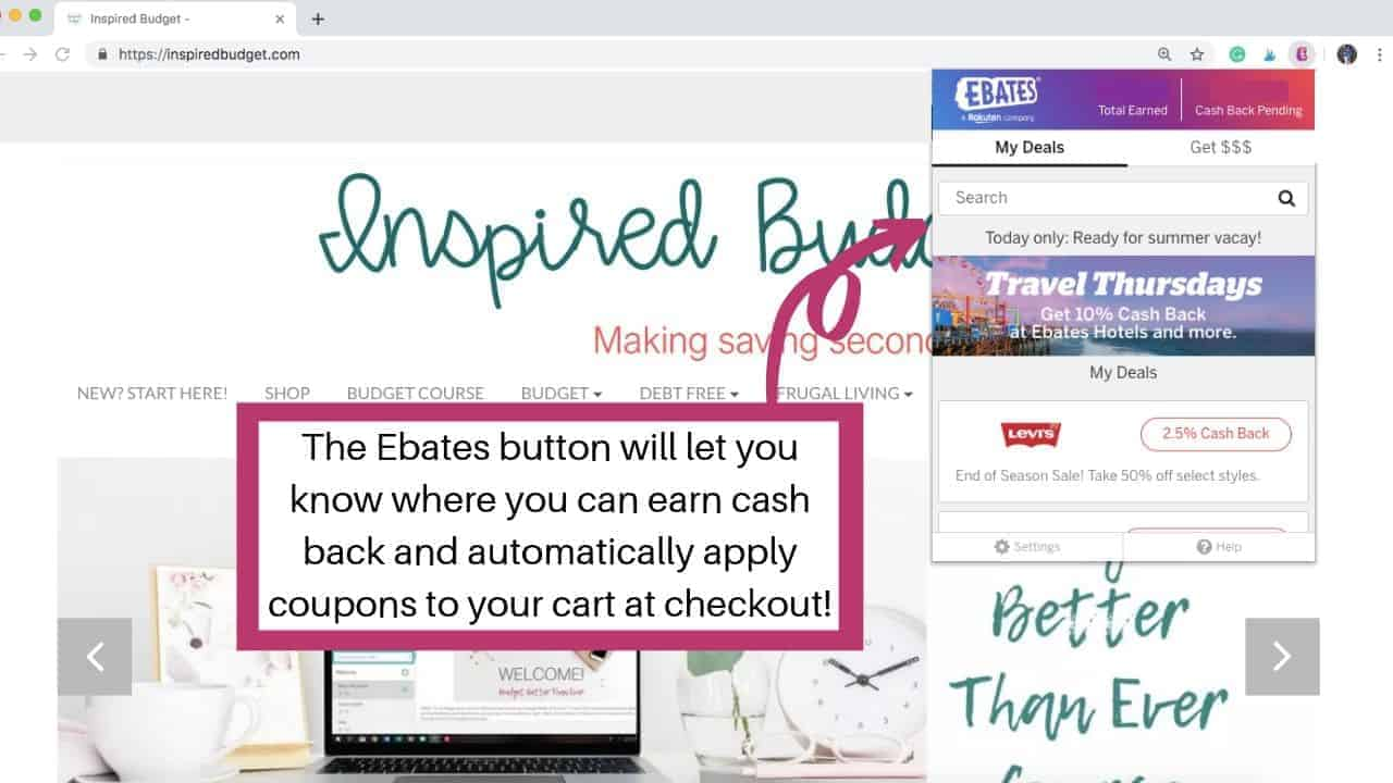 How To Earn Money With Ebates by InspiredBudget.com