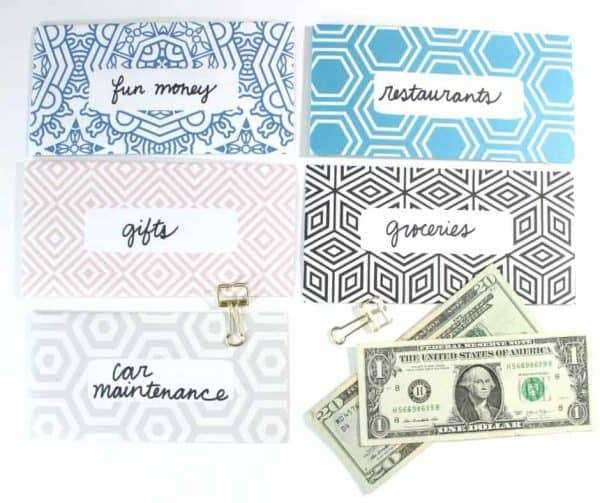 Geometric Shapes Cash Envelopes by InspiredBudget.com