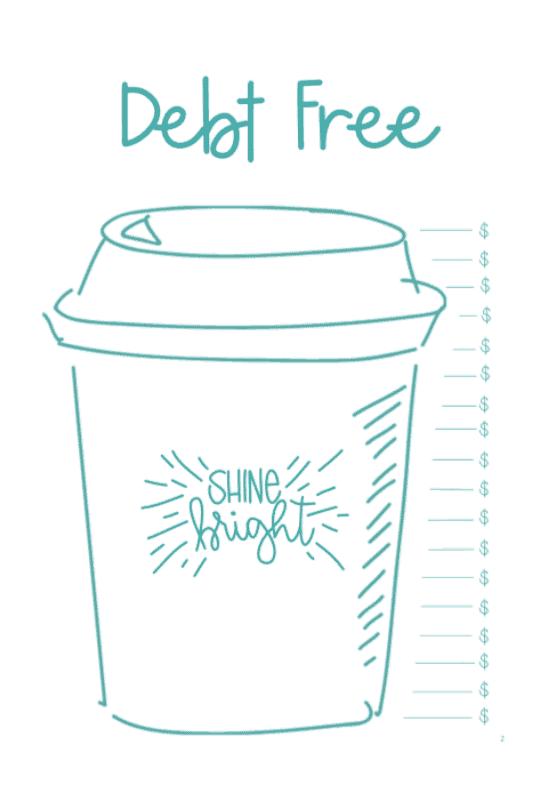 coffee cup tracker freebie image