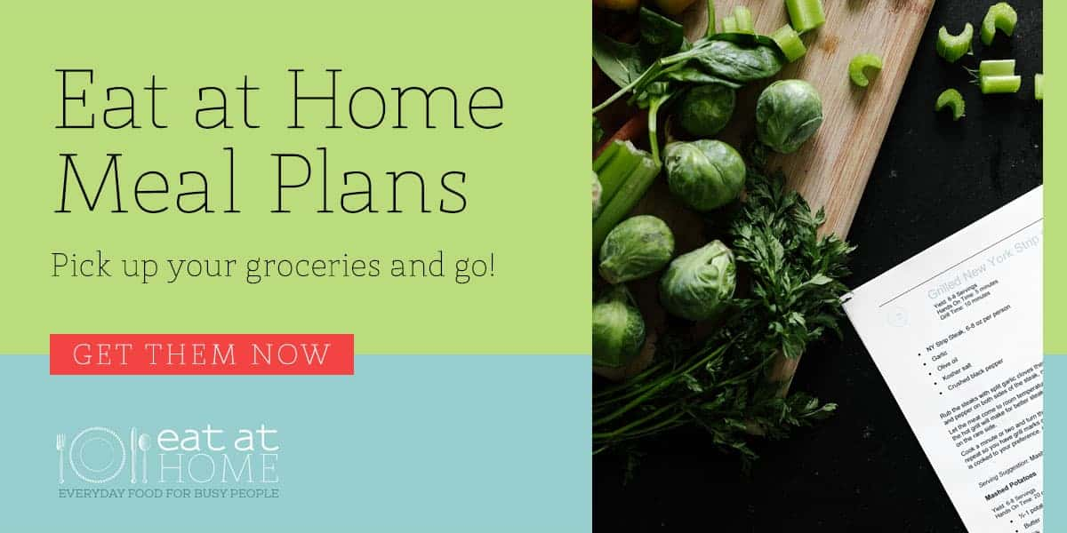 Eat At Home Meal Plans by InspiredBudget.com