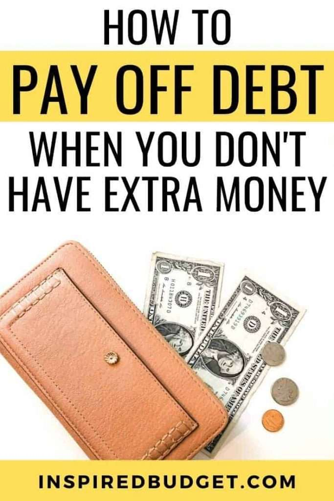 Learn how to pay off debt even when you live paycheck to paycheck by InspiredBudget.com