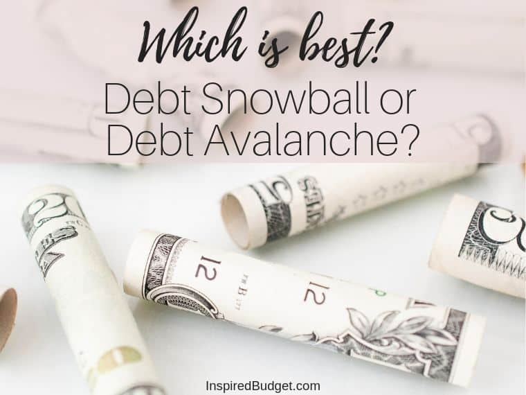 Debt Snowball or Debt Avalanche by InspiredBudget.com