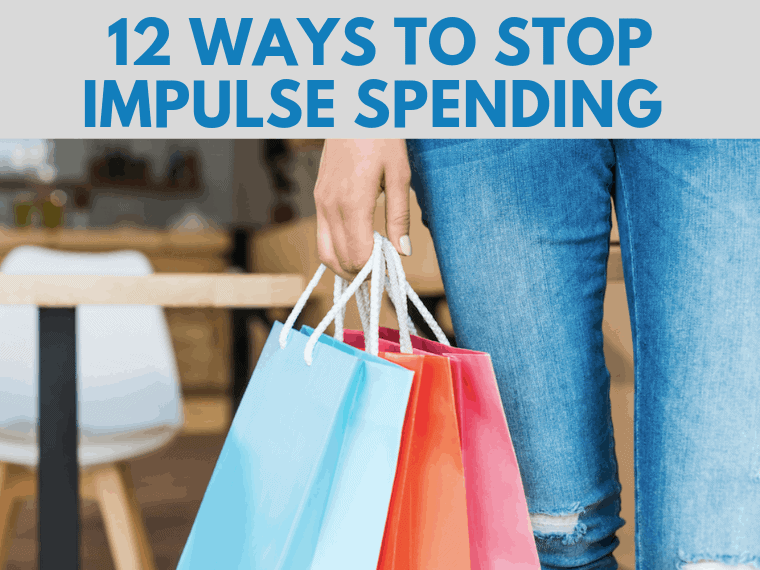 12 Ways To Stop Impulse Spending by InspiredBudget.com