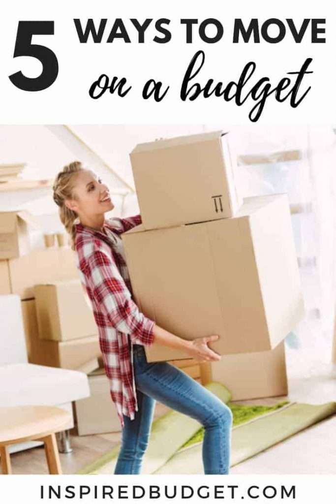 5 Ways To Move On A Budget by InspiredBudget.com