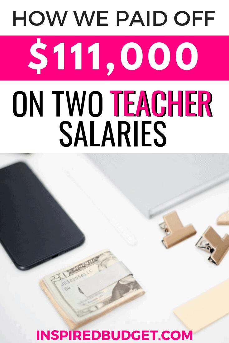 paid off debt on 2 teacher salaries image 1