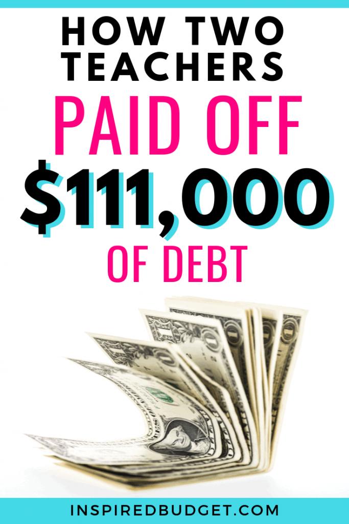 How Two Teacher Paid Off Debt by InspiredBudget.com