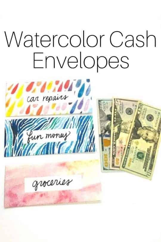 watercolor envelopes freebie image
