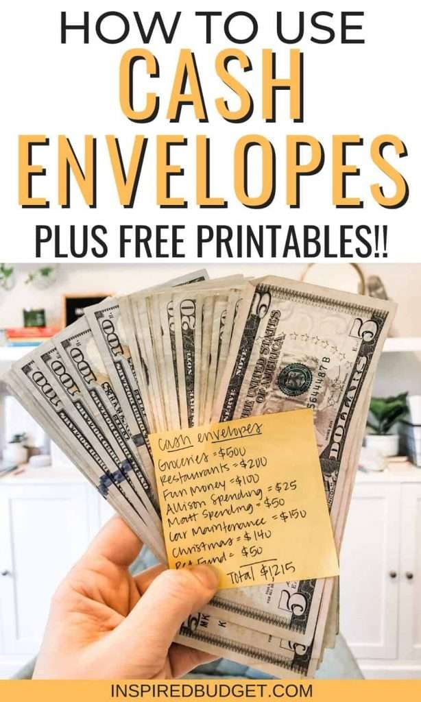 How To Use Cash Envelopes Plus A Free Printable