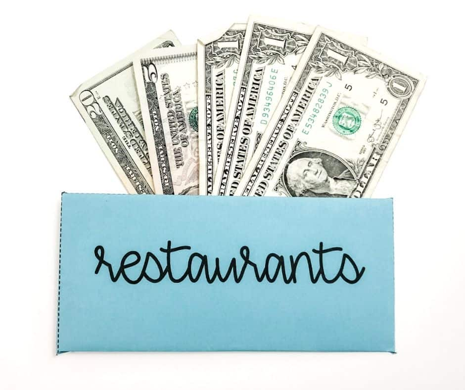Restaurants Cash Envelope