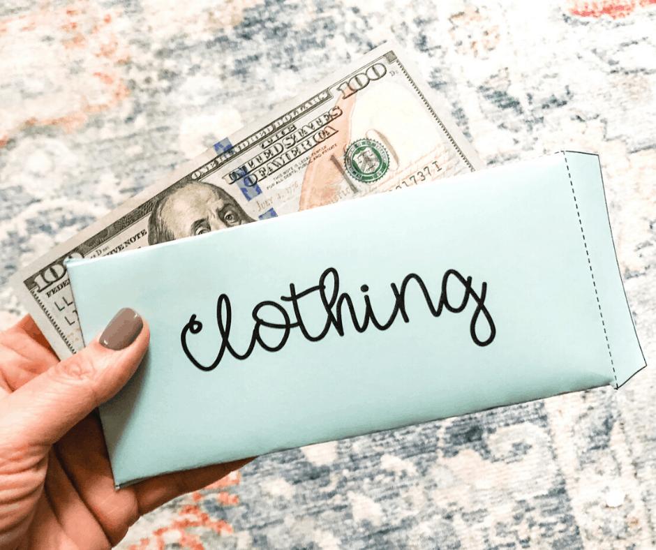 Clothing Cash Envelope Free Printable