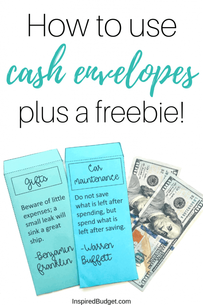 How To Use Cash Envelope System by InspiredBudget.com