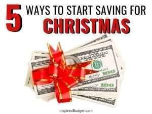 How To Save For Christmas by InspiredBudget.com