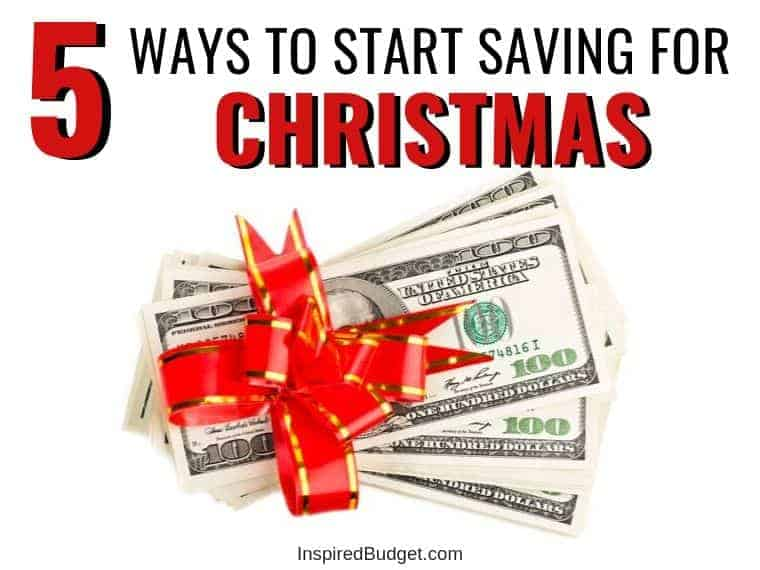 How To Save For Christmas by InspiredBudget.com