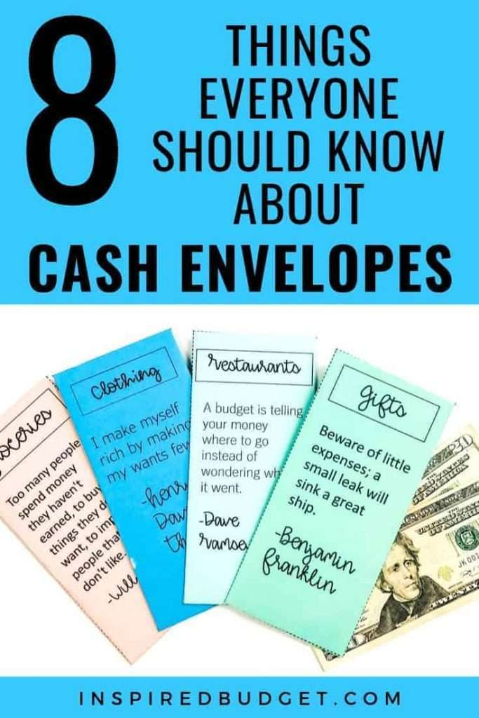 Cash Envelope System & What You Need To Know by InspiredBudget.com