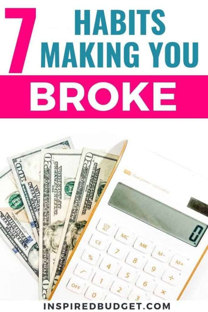 Unhealthy money habits by InspiredBudget.com