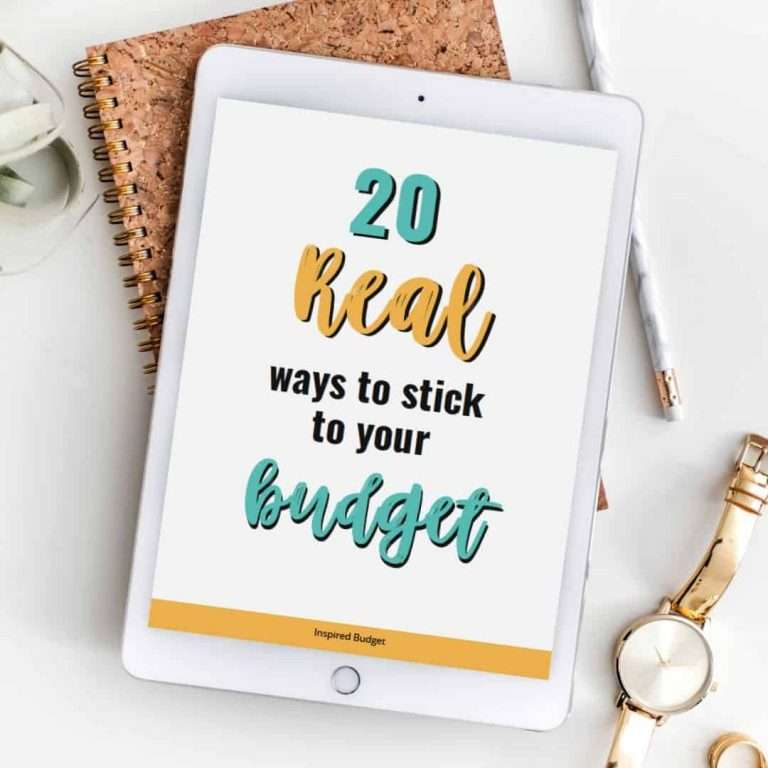 Real Ways To Stick To Your Budget by InspiredBudget.com