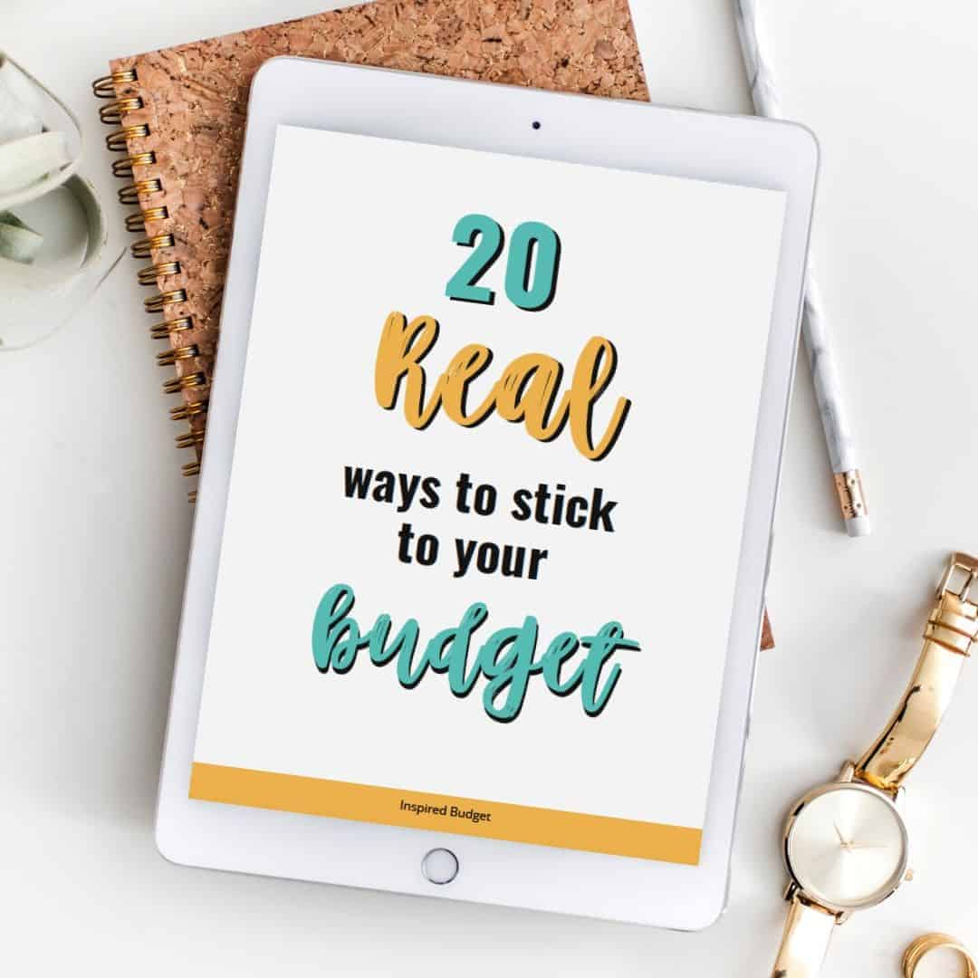 20 real ways to stick to your budget instagram image