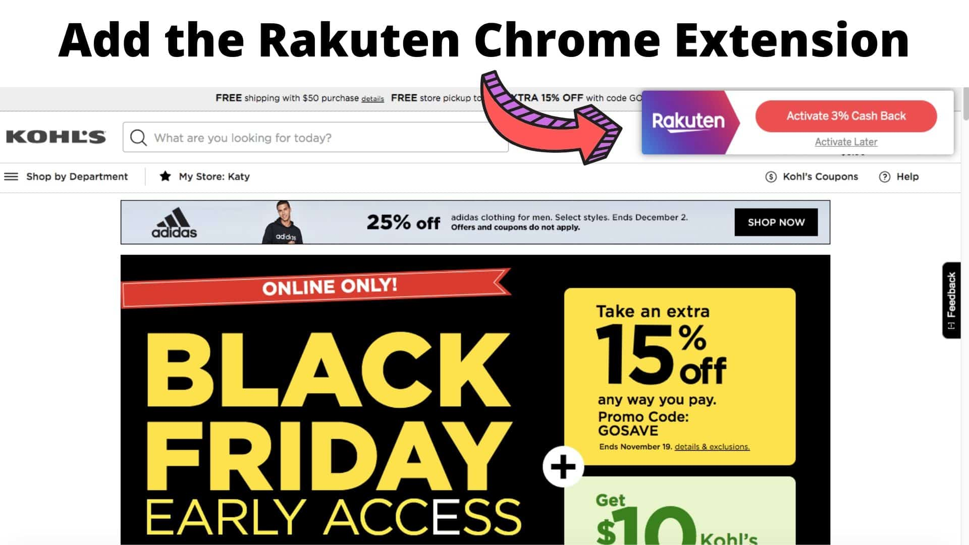 Earn Cash Back with Rakuten
