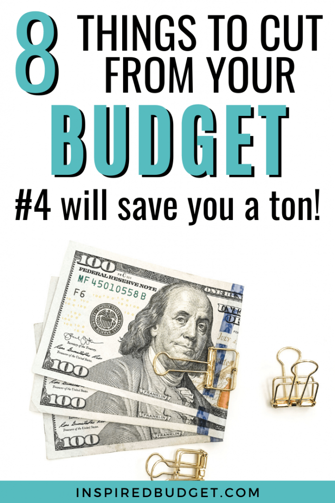 8 Items To Cut From Your Budget by Inspired Budget