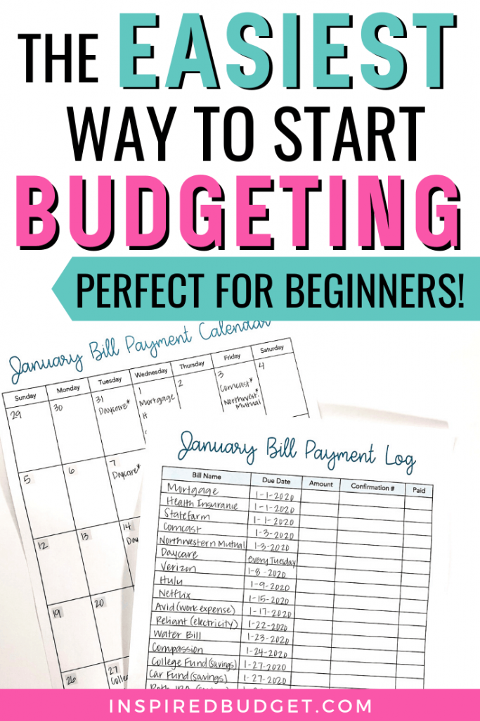 The Easiest Way To Start Budgeting by Inspired Budget
