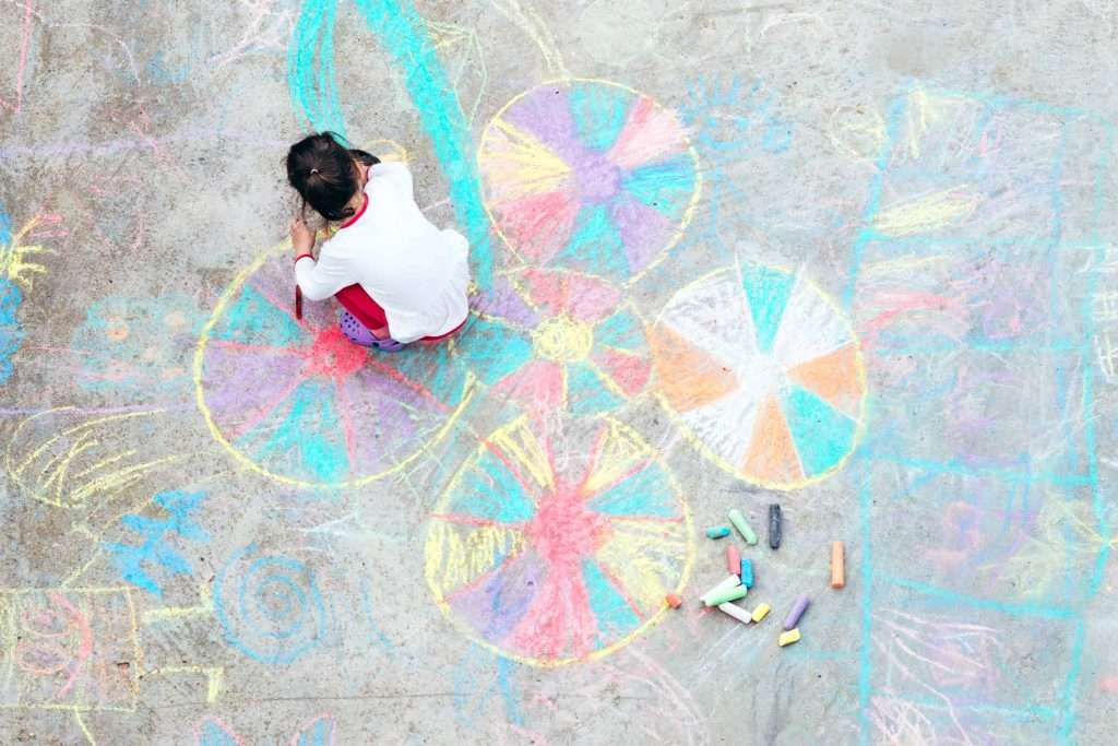 Outdoor Chalk Art